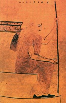 Η μορφή του Ακρίσιου σε τμήμα ληκύθου (460 - 450 π.Χ.)