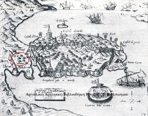 Giovanni Francesco Camocio (1501;- †1575) - Napoli di Romania