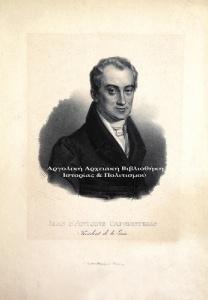 Ιωάννης Καποδίστριας, Λιθογραφία, Σχέδιο εκ του φυσικού του Louis Letronne. Λιθογραφία του Institut Lithographie της Βιέννης, 1829