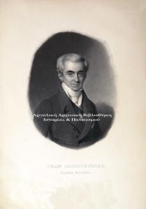 Ιωάννης Καποδίστριας, Λιθογραφία.