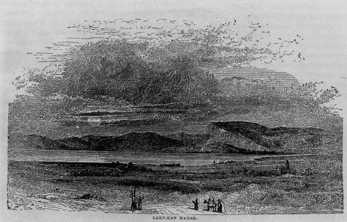 Το έλος της Λέρνης, από το βιβλίο του Chr. Wordsworth, Greece, Λονδίνο (1853).
