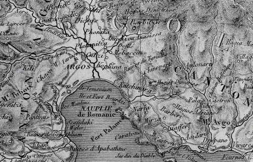 Χάρτης του Lapie (Παρίσι, 1826).