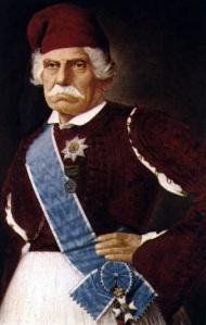 Δημήτριος Καλλιφρονάς. Αγωνιστής του 1821 και πολιτικός. Ελαιογραφία του Δ. Βογιαζή (Αθήνα, Εθνικό Ιστορικό Μουσείο).