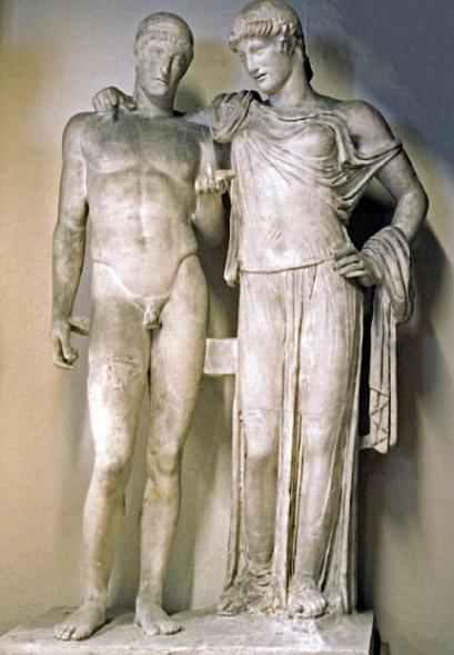 Ορέστης και Ηλέκτρα. Αρχαιολογικό μουσείο Νάπολης.