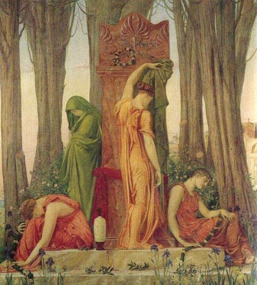 Η Ηλέκτρα στο μνήμα του Αγαμέμνονα, Sir William Blake Richmond (British, 1842-1921).