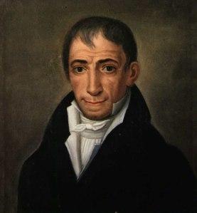 Αδαμάντιος Κοραής. Διδάσκαλος του Γένους, πρωτεργάτης του Νεοελληνικού Διαφωτισμού. Ελαιογραφία (Ληξούρι Κεφαλονιάς, Ιακωβάτειος Βιβλιοθήκη).