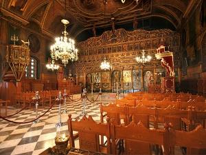 Εσωτερικό του  Ιερού Ναού Αγίου Νικολάου.  (Φωτογραφία από τον ιστότοπο, Εικονική περιήγηση στο Ναύπλιο).