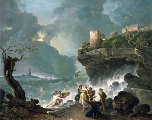 Η Αλκυόνη θρηνεί τον πνιγμένο Κήυκα. Wilson Richard 1768, λάδι σε μουσαμά, National Museum Wales.