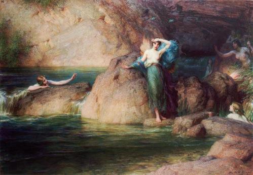 Η Αλκυόνη αναζητά τον σύζυγό της. Λάδι σε μουσαμά, έργο του Herbert James Draper - (1915).