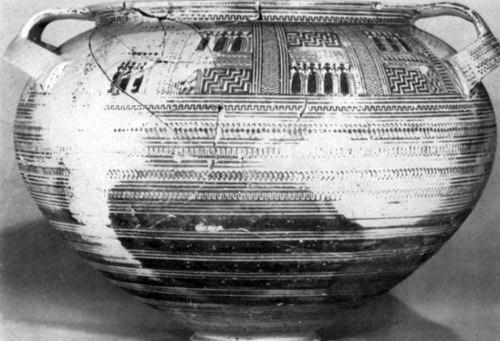 Εικ. 25: ΥΓ κρατήρας. Μουσείο Άργους. Αρ. ευρ. 5661. (κατά: Κrystalli-Votsi 1980, 86 εικ. 2).