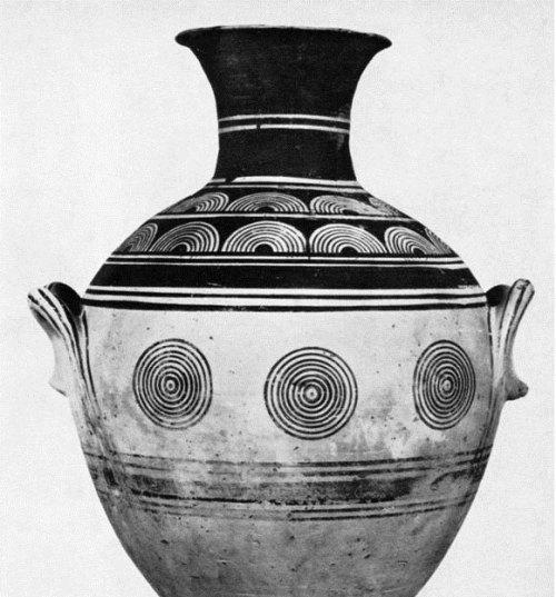 Εικ. 17: ΠΓ επιγάστριος αμφορέας (Bauchhenkelamphora) από τον Κεραμεικό (κατά: Schweitzer 1969 πιν. 3)
