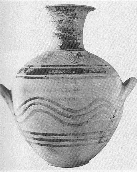 Εικ. 9: Πρώιμος ΠΓ αμφορέας από την Τίρυνθα, Τάφος 1974/3 (Κατά: Lemos 2002 εικ. 20.1).
