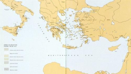 Εικ. 23: Χάρτης του Β΄ αποικισμού (κατά: Sweeney - Curry - Tzedakis 1988, 30 κ.εξ.).