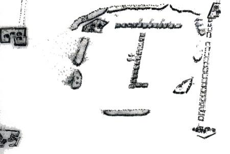 Εικ. 1. Η διάταξη της μάχης στην πεδιάδα του Άργους, μεταξύ των δυνάμεων Βενετών και Οθωμανών, 6 Αυγούστου 1686 (BMV.- Mss It. Cl VII, 94 [10051], No 54).