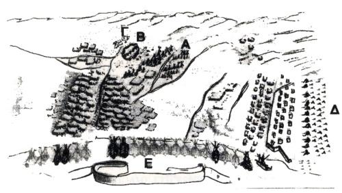 Εικ. 3. Μάχη στην πεδιάδα του Άργους (;) (BMV.- Mss It. Cl VII, 94 [10051], No 56).