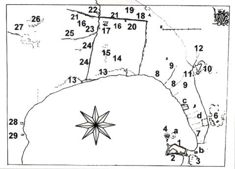 Εικ. 5. Κόλπος Ναυπλίου, με την πεδιάδα του Άργους Συλλογή Grimani, πίν. XX, Γεννάδειος Βιβλιοθήκη - Αθήνα.