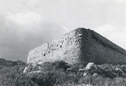 Ο προμαχώνας Αχιλλέας. Η «Opera Doppia Tenaglia» των Βενετών, και «Yürüyüs tabya» των Τούρκων. Αυτή υπέστη την πρώτη επίθεση των Τούρκων το 1715.