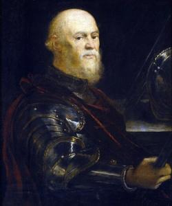 Τιντορέττο (Jacopo Tintoretto 1518-94), Πορτρέτο Ενετού Ναυάρχου. Museo Nacional del Prado (Spain - Madrid).