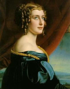 Jane Elizabeth Digby-Θεοτόκη, Κόμησσα του Ellenborough 1807 -1881. Έργο του  ζωγράφου της βαυαρικής Αυλής Joseph Karl Stieler (Γιόζεφ Καρλ Στίλερ). Ανάκτορο Νύμφενμπουργκ του Μονάχου.