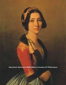 Φωτεινή Μαυρομιχάλη (1826-1878) κυρία επί των τιμών της βασίλισσας Αμαλίας.