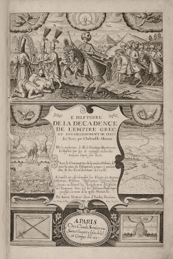 Παράσταση νίκης Οθωμανού σουλτάνου, Λαόνικος Χαλκοκονδύλης στο: L'histoire de la decadence de l'empire grec, et establissement de celuy des Turcs, par Chalcondile Athenien..., Parisien, Claude Sonnius, 1632.