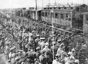 Το Δ΄ Σώμα Στρατού που εγκατέλειψε τη Δράμα και παραδόθηκε αμαχητί στους Γερμανούς, τον Αύγουστο του 1916, μεταφέρθηκε στο Γκέρλιτς (Goerlitz) της Γερμανίας όπου και παρέμεινε υπό επιτήρηση για το υπόλοιπο του πολέμου.