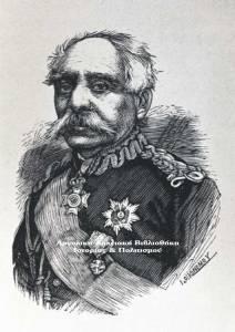 Μιχαήλ Σπυρομήλιος (1800-1880), ξυλογραφία, Ποικίλη Στοά, 1883.