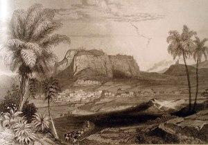 Ο Ακροκόρινθος και η πόλη της Κορίνθου, Á. Geyer, 1858