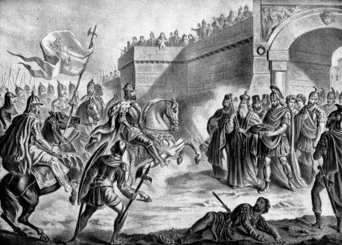 Ο τσάρος Συμεών Α΄ ο Μέγας της Βουλγαρίας προ των πυλών της Κωνσταντινουπόλεως και ο Πατριάρχης Νικόλαος Α΄ ο Μυστικός.