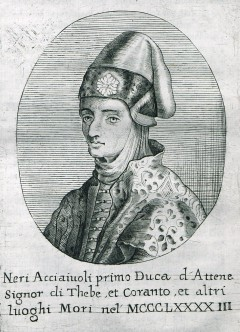Portrait of Nerio I Acciaioli, first Florentine Duke of Athens.