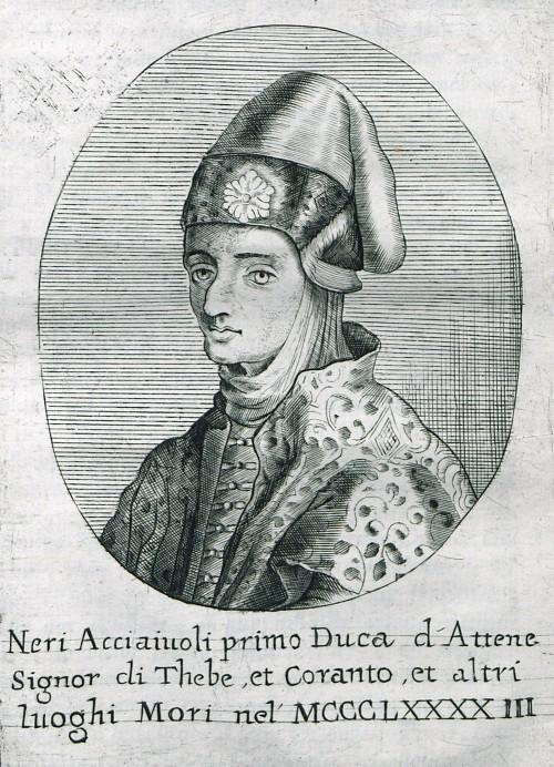 Portrait of Nerio I Acciaioli, first Florentine Duke of Athens.