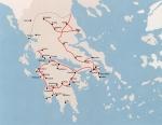 Χάρτης με τις σιδηροδρομικέςγραμμές
