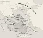 Τα σύνορα του πρώτου ανεξάρτητου ελληνικού κράτους (1830 και1832).